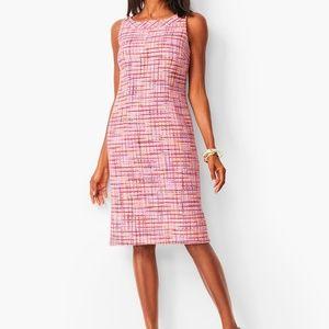 NWT Talbots Ribbon Tweed Round Neck Dress, Size 6